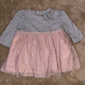 Gray & Pink sparkly star dress